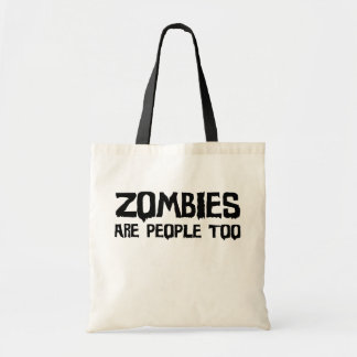 De zombieën zijn Mensen ook - Canvas tas (licht)