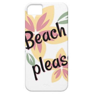 De zomer Bloemen - Strand tevreden Barely There iPhone 5 Hoesje