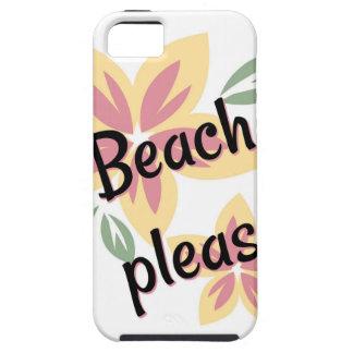 De zomer Bloemen - Strand tevreden Tough iPhone 5 Hoesje