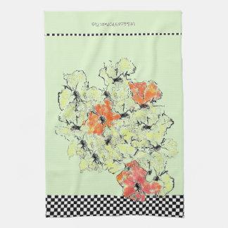 De zomer in Herfst Sjofele Elegante Wildflowers Theedoek