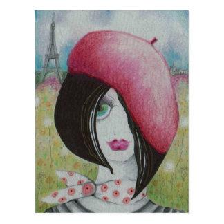 De zomer in Parijs Briefkaart