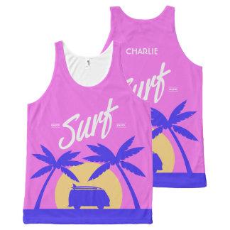 De zomer surf het mouwloos onderhemd van de All-Over-Print tank top