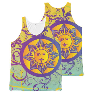 de zomer zon All-Over-Print tank top