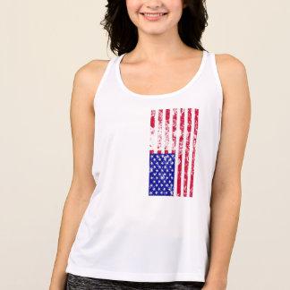 de zomerbovenkant van de patriottische vrouwen van tanktop