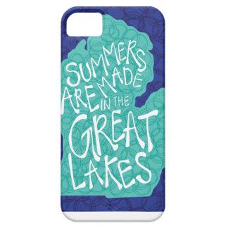 De zomers worden gemaakt in de Grote Meren - Blauw Barely There iPhone 5 Hoesje