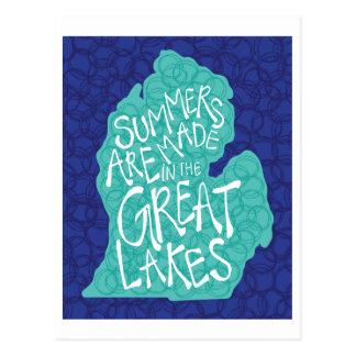 De zomers worden gemaakt in de Grote Meren - Blauw Briefkaart