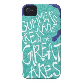 De zomers worden gemaakt in de Grote Meren - Blauw iPhone 4 Hoesje