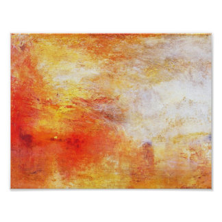 De Zon die van de keerder over een Abstract Poster