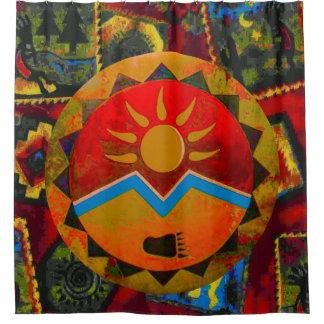 De zon draagt het Gordijn van de Douche