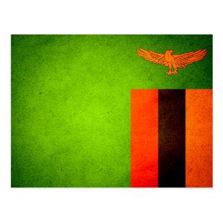 De zon gekuste Vlag van Zambia Briefkaart