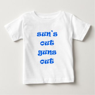 De zon schiet uit uit neer! baby t shirts