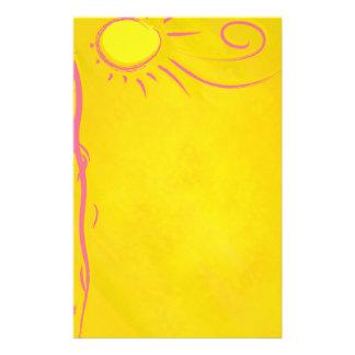 de zon van de gekrabbelcartoon briefpapier