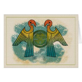 De Zon van de papegaai Wenskaart