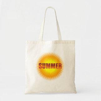 De Zon van de zomer & het Canvas tas van de Pret