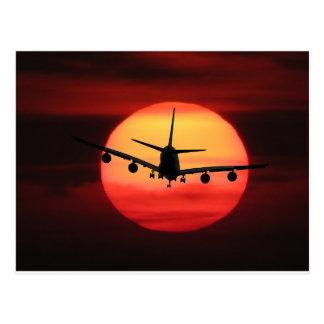 De Zon van het vliegtuig Briefkaart