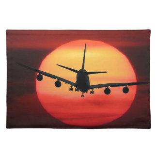 De Zon van het vliegtuig Placemat