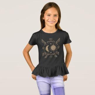 De zon van meisjes en maan, spiritueel t shirt