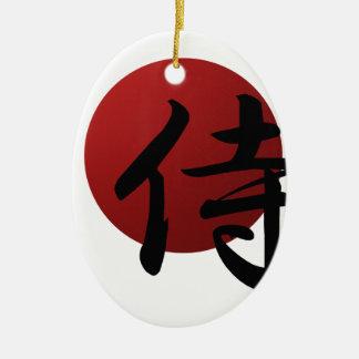 De Zon van samoeraien Keramisch Ovaal Ornament