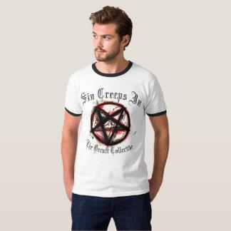 De zonde sluipt de Omgekeerde t-shirt van het