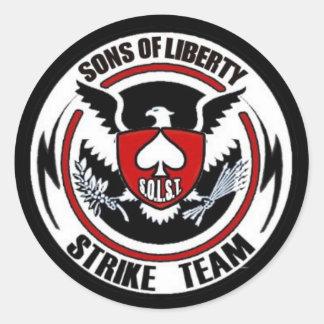 De zonen van Vrijheid slaan Team Ronde Sticker