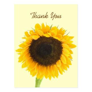 De zonnebloem dankt u Briefkaart