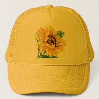 De Zonnebloem van de hoed Trucker Pet