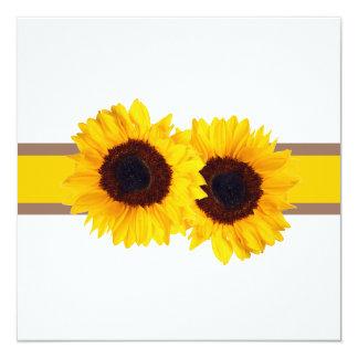 De zonnebloem van PixDezines/diy 13,3x13,3 Vierkante Uitnodiging Kaart