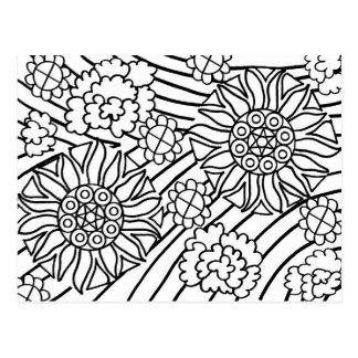 De zonnebloemen in de Zomer kleuren uw kaart