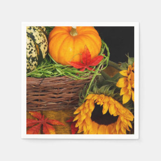 De Zonnebloemen van de Oogst van de herfst Papieren Servet