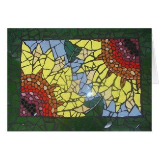 De Zonnebloemen van het mozaïek Briefkaarten 0