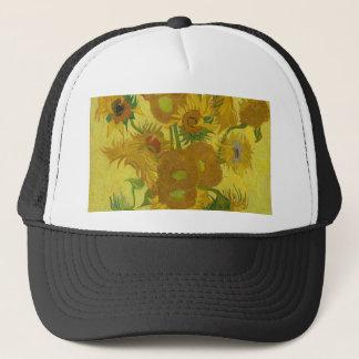 De Zonnebloemen van Vincent van Gogh - Klassieke Trucker Pet