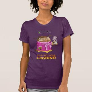 De zonneschijnuil van de goedemorgen t shirt