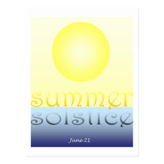 De Zonnestilstand van de zomer Briefkaart