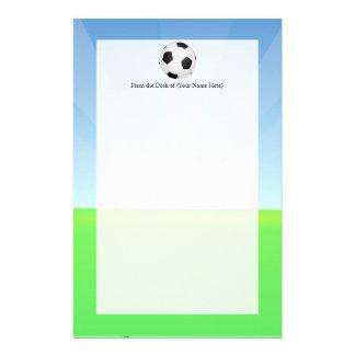 De Zonnige Dag van de Bal van het voetbal Briefpapier