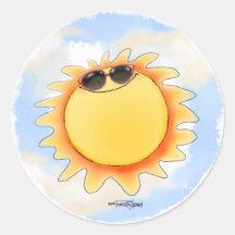 De zonnige & Heldere stickers van de Zonneschijn