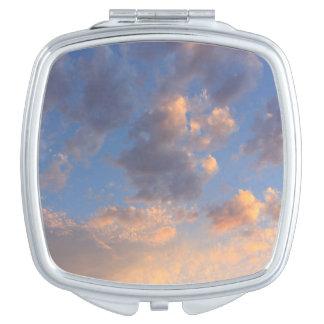 De zonsondergang betrekt Compacte Spiegel Makeup Spiegeltje