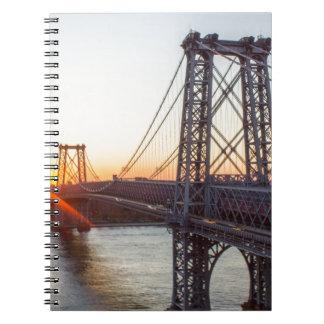 De Zonsondergang Brooklyn NYC van de Brug van Ringband Notitieboek