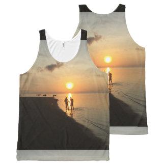 De Zonsondergang en het Strand van Bali All-Over-Print Tank Top
