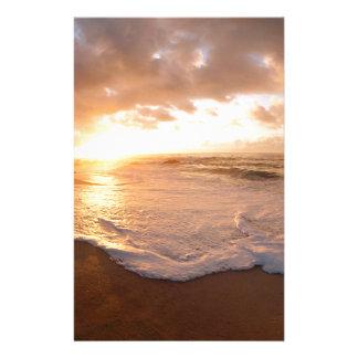 De Zonsondergang Franse Polynesia van het Eiland v Briefpapier