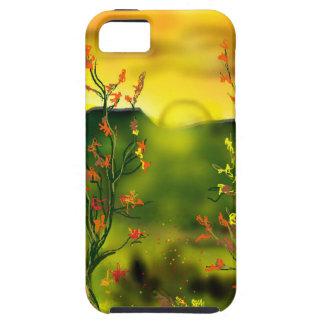 De Zonsondergang IPhone 5 van de woestijn Dekking Tough iPhone 5 Hoesje