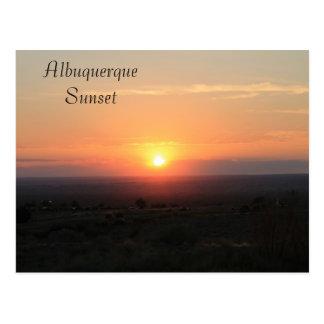 De zonsondergang van Albuquerque Briefkaart