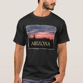 De Zonsondergang van ARIZONA op zwarte T Shirt