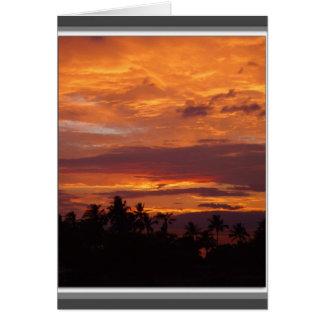 De Zonsondergang van augustus Wenskaart