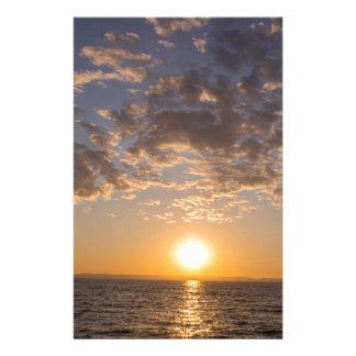 De zonsondergang van Baikal Briefpapier