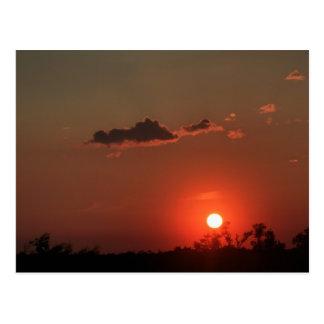De Zonsondergang van Biloxi Briefkaart