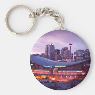 De zonsondergang van Calgary Sleutelhanger