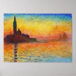 De Zonsondergang van Claude Monet in Venetië