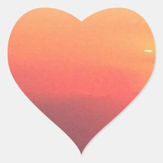 De Zonsondergang van Colorado Hart Sticker