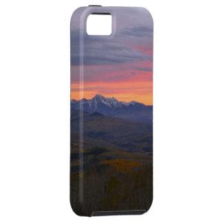 De Zonsondergang van de Bergen van Colorado Tough iPhone 5 Hoesje