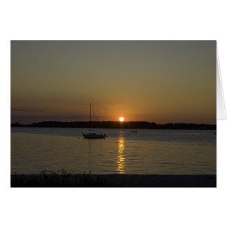De Zonsondergang van de Boot van de Snelheid van Kaart